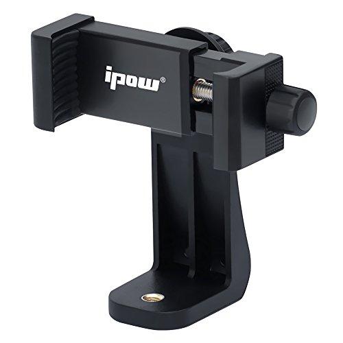 IPOW Support et Adaptateur pour Trepied et Tablette, Trépied Monopod Compatible avec Smartphone Téléphone iPhone 7 Plus, 7, 6, 6 Plus, 5s, HTC Samsung LG, et l'Autres d'Appareil-Noir