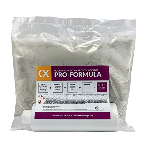 Concrete Exchange CX Pour-in-Place Concrete Countertop Pro-Formula Mix