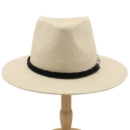 Sombrero de moda Sombrero de jazz retro británico for hombre Sombrero panameño Sombreros Fedora Fedoras Algodón A cuadros Primavera Otoño Casquillo al aire libre ( Color : Caqui , tamaño : 56-58CM )