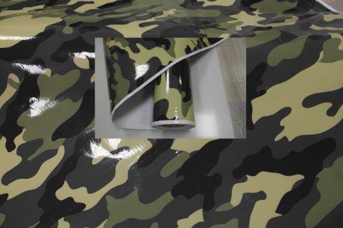 Könighaus (10,2€/m2) Jungle Camo II 100 x 152 cm blasenfrei mit Anleitung (Camouflage Autofolie)