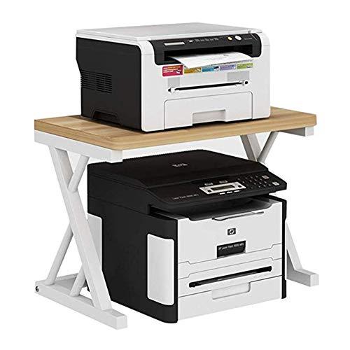 Soportes para impresoras Impresora Fax Estante de la Mesa se coloca bandejas Falsas Oficina de Almacenamiento estantería Doble Creativas for hogar y Oficina Organizador de fax