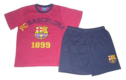 Pijama Oficial Barcelona Short 7-16 Años Claret y azul marino 15-16 Años