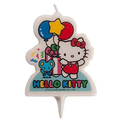 DEKORA Candelina per Torta di Compleanno. 7cm; Hello Kitty