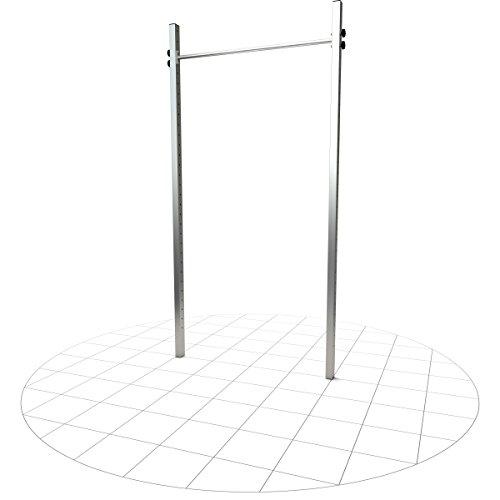 TOLYMP Einfach-Turnreck Starterhorn Sonderhöhe 300 cm eine Klimmzugstange/Turnstange/Turnreck für Outdoor-Fitness, hochwertig aus Edelstahl, für den Garten und die ganze Familie Kinder