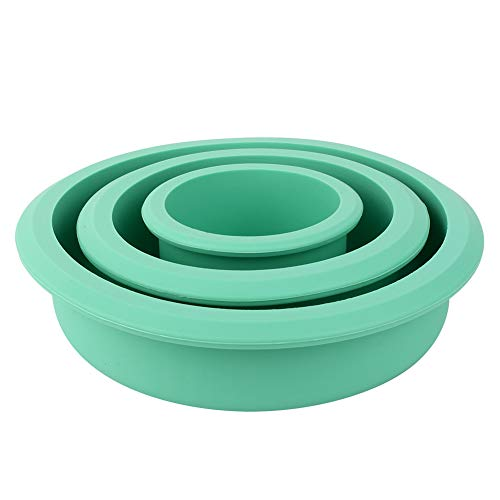 Moule de cuisson, moule à gâteau en Silicone 3 couches Delaman assiette à Pizza bricolage moule outils ronds accessoires de cuisine accessoires ménagers
