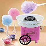 WooCo Home Use Mini Countertop Cotton Candy Maker and Electric Candy Floss Maker Nostalgia Cotton Candy Maker for Kids- Children Pink/Blue/Red Trolley Creative Gift Halloween Candy Machine Kit