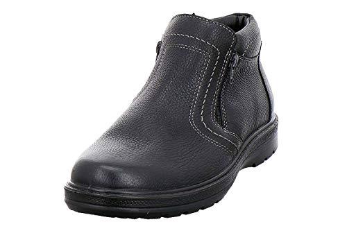 Jomos Air Comfort 459510-33-000 Herren Winterstiefel aus Glattleder Reißverschlüsse Weite H, Groesse 43, schwarz