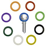 Uniclife 36PCS Key Caps Covers Tags, Plastic Key Identifier Coding Rings in 9 Different Colors