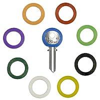 アップグレード36個uniclifeキーキャップカバータグ、プラスチックキー識別子コーディングリング9の異なる色で