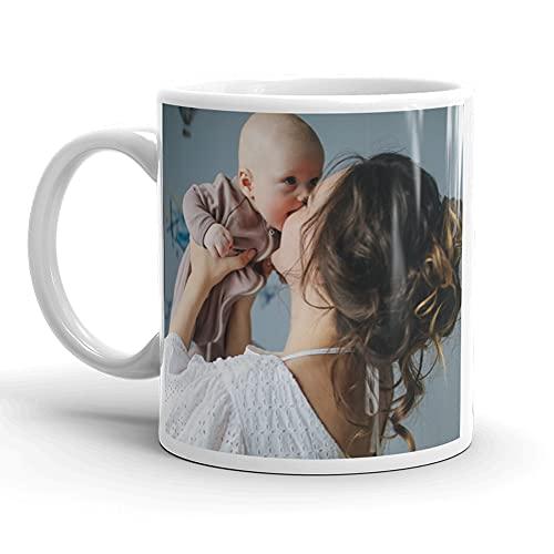 SelfieMania - Mug personnalisé avec 2 photos - personnalisable avec vos photos -cadeau personnalisé - Cadeau d'Anniversaire, souvenir, naissance, collègue
