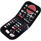 Kit de Costura Kit de Costura portátil de 10 Piezas Herramienta de Costura doméstica Conjuntos de Costura Caja de Costura Ligero y Portátil (Color : Black, Size : 10pcs)