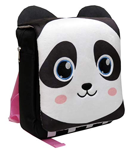 CYP BRANDS Bagoose MC-114-B Mochila infantil Oso Panda, Negro