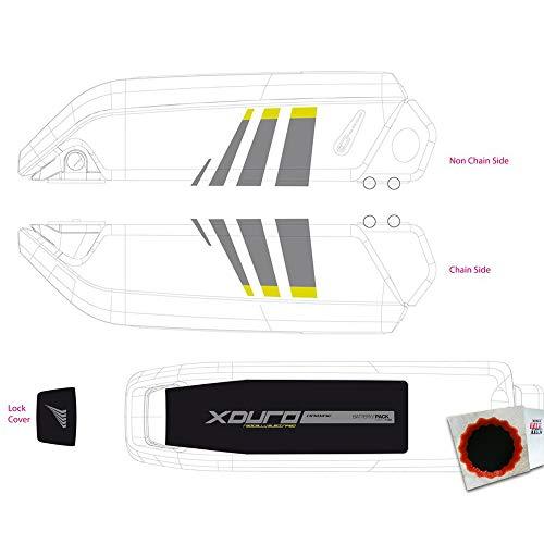 HAIBIKE Dekor E-Bike Xduro f. Batteriegehäuse 2014 Lime + Flicken