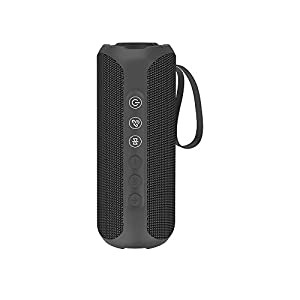 Waterproof Portable Bluetooth Speaker with 20W Stereo Sound,TWS Connection, Built-in Mic, Portable Wireless Speaker for Home and Outdoors (Black)