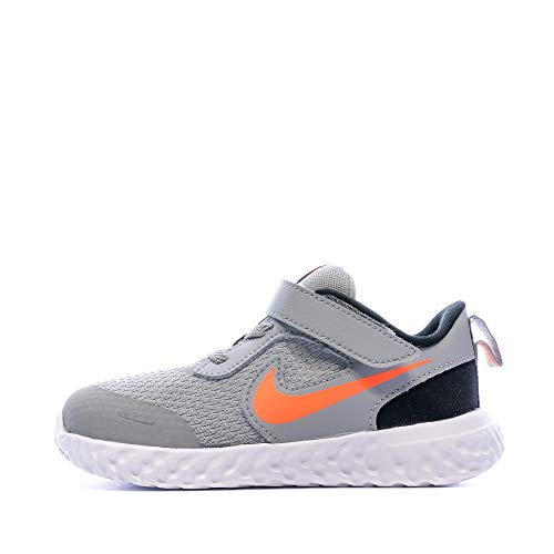 Nike Revolution 5 (TDV), Zapatillas Deportivas Unisex bebé, Light Smoke Grey/Total Orange-Negro, 23.5 EU