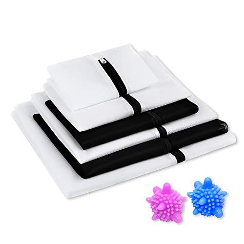 洗濯ネット ランドリーネット Miuphro 洗濯袋セット 6枚入 洗濯ボール付き ランドリー バッグ 型崩れ防止/...
