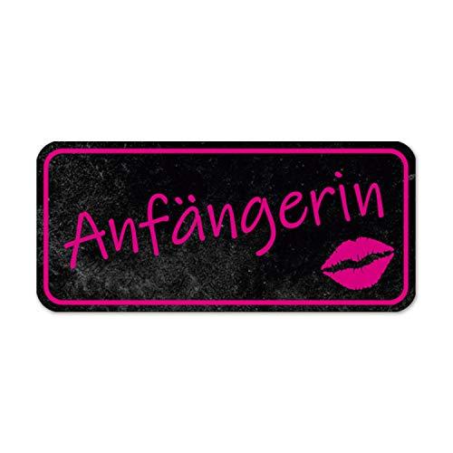 Fahrzeug-Magnet Anfängerin I 20 x 9 cm I Vorsicht Achtung Fahranfänger I rosa schwarz I Cooler Magnet-Schild I wetterfest magnetisch I dv_895
