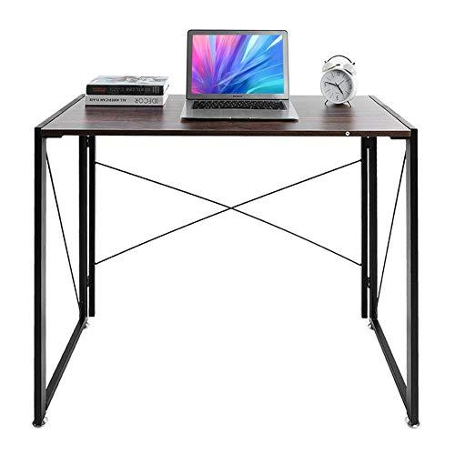 Escritorio plegable para ordenador portátil, mesa de juegos, para oficina en casa, mesa de escritura, 101 x 50 x 77 cm