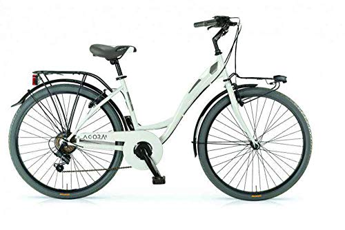 MBM Agora, Bicicletta da Trekking Unisex – Adulto, Bianco (Avorio A11), 26'
