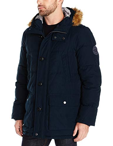 Tommy Hilfiger Men's Arctic Cloth Full Length Quilted Snorkel Jacket