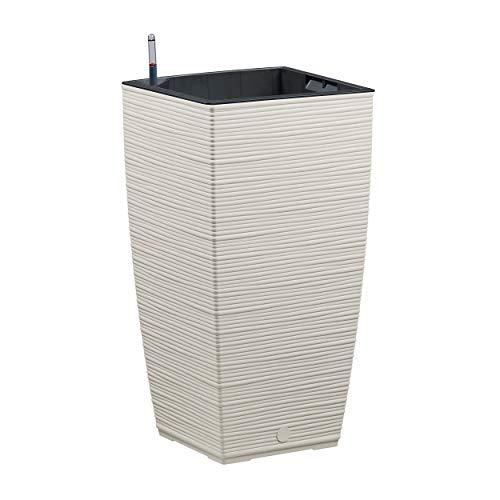 Emsa 518507 Casa Cosy Blumensäule, Aqua Comfort Bewässerungssystem, seidengrau