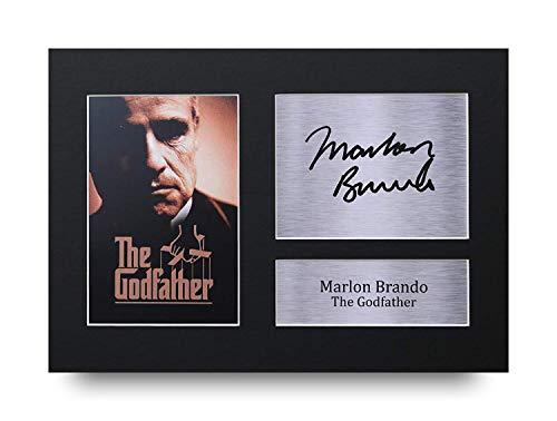 HWC Trading Marlon Brando A4 Ungerahmt Signiert Gedruckt Autogramme Bild Druck-Fotoanzeige Geschenk Für The Godfather Filmfans