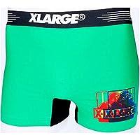 X-LARGE エクストララージ メンズ シームレス ローライズ ボクサーパンツ M L XL dwearsステッカー入り ブランド 男性 下着 誕生日 プレゼント <RGBグリーン Mサイズ>