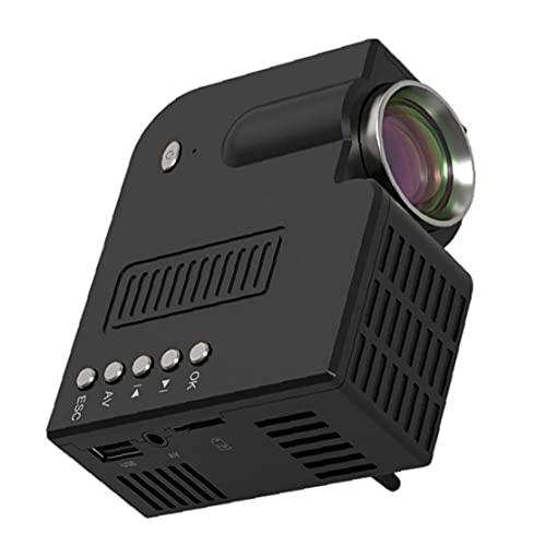Mini proyector portátil, dispositivo de proyección de teléfonos móviles de video portátil para teléfono móvil negro