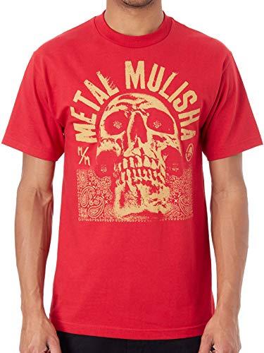 Metal Mulisha Rot Rep T-Shirt (Medium, Rot)