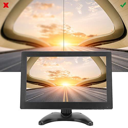 ASHATA draagbare monitor, 11,6 inch scherm TFT-LCD-monitor 1366x768 voor industriële besturingsapparatuur, met USB/VGA/AV voor pc Beveiligingscamera, met afstandsbediening, aanraakknop(EU)