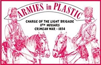 Crimean War 1854 11th Hussars Charge of the Light Brigade (5 Mounted) 1/32 Armies in Plastic