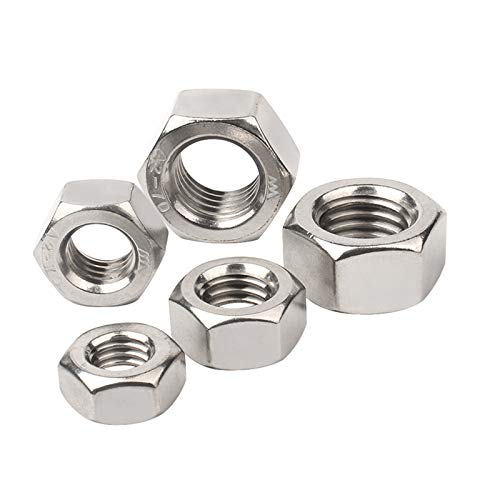 AIHOUSE 5 Piezas De Tuerca Hexagonal Inoxidable 304 Excelente Resistencia A La Oxidación Se Utiliza En Todo Tipo De Maquinaria De Precisión, M12-M24,M12