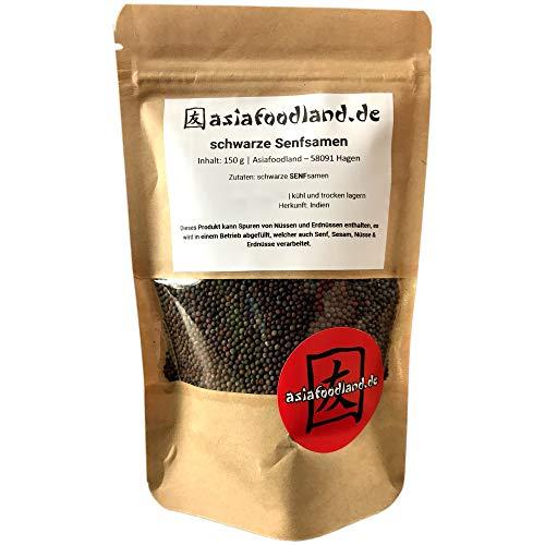 Asiafoodland - schwarze Senfsamen / braune Senfsamen, 1er Pack (1 x 150g)