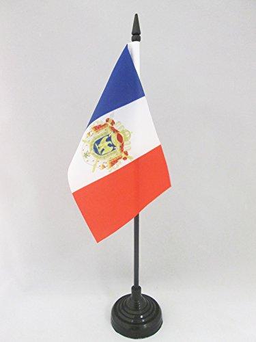AZ FLAG TISCHFLAGGE Frankreich ZWEITES KAISERREICH 1852-1870 15x10cm - FRANZÖSISCHES KAISERREICH Napoleon TISCHFAHNE 10 x 15 cm - flaggen