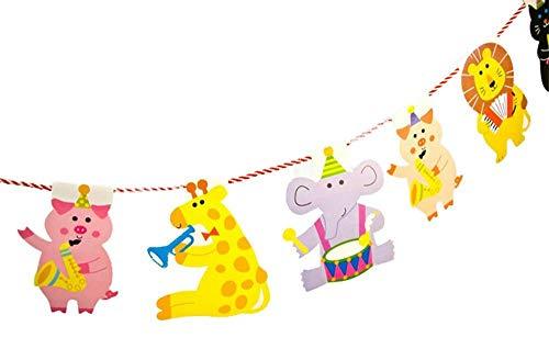 Uteruik Wimpelkette Fahne Cartoon Tiere Geburtstag Dekoration Party Schlafzimmer Kinder Dekoration DIY (hj-#e)