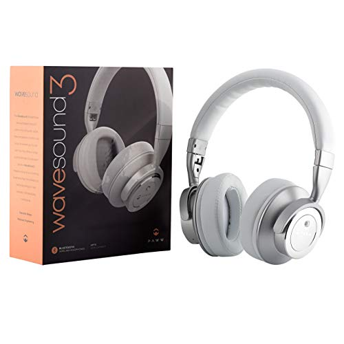 PAWW PW-WS03-WH WaveSound 3 Bluetooth Over-Ear Headphones with Microphone (White)