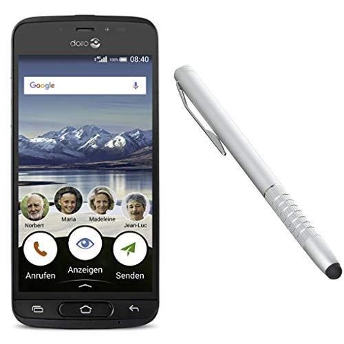 Doro 8040 Smartphone (12,7 cm (5 Zoll) Display, 8MP Kamera, 16GB Speicher) Graphit & 6935 Stylus