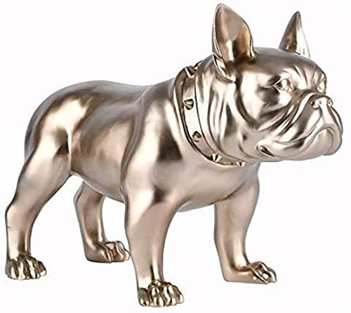 Statues,Bulldog French Bulldog Decoration Dog Statue Animal Jewelry Resin Model Creative Crafts Gilded Desktop Decoration