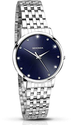 Sekonda orologio in acciaio INOX blu Stone set Dial 2442