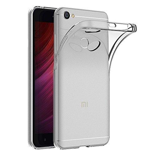 Funda Carcasa Gel Transparente para XIAOMI REDMI Note 5A Prime/REDMI Y1, Ultra Fina 0,33mm, Silicona TPU de Alta Resistencia y Flexibilidad