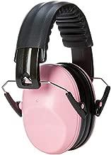 AmazonBasics Kids Ear Protection Safety Noise Earmuffs, Pink