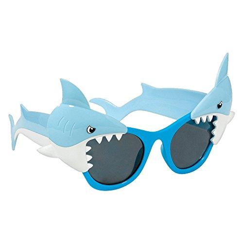 amscan Sunglasses-1 Pc Hawaiian Shark Gafas de sol - 1 pieza, plástico, multicolor