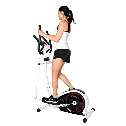 Christopeit Sport Crosstrainer CT 3 Silber – 8-stufiger Widerstand – Pulsfrequenz-Messung - 7kg Magnet-Bremssystem