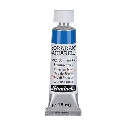 Schmincke Horadam Watercolor 15 ml Tube - Prussian Blue