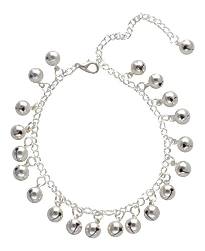 dunns-jewels Silver Plated Jingle-Jangle Bell Charmed Anklet
