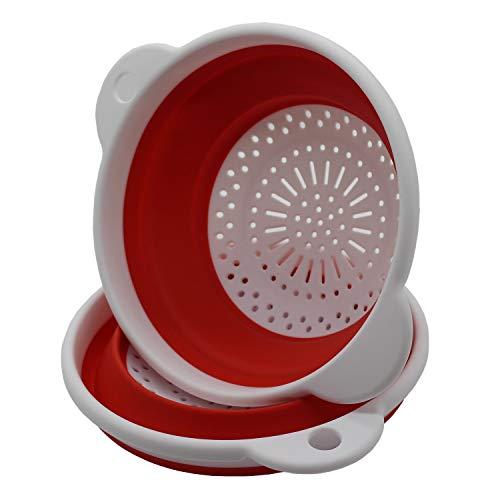 YUX Colino - Bacinella filtrante - bacinella di Lavaggio e drenaggio - Filtro in Silicone Pieghevole da Cucina - Facile da Pulire - Ambientale e atossico