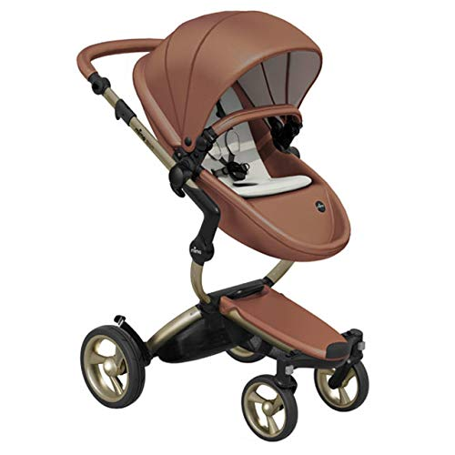 For Sale! Mima Xari Stroller Bundle (Includes Gold Chassis/Camel Seat/Snow White Starter Pack)