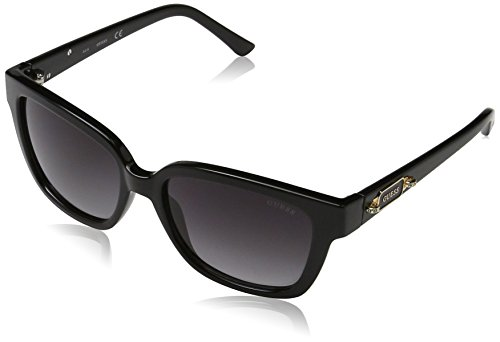 Guess GF601401B55 GF601401B55 Groß Sonnenbrille 52, Schwarz
