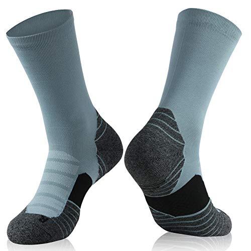 Mens Crew Hiking Socks, Insox Womens Full Cushion Mid Quarter Length Walking Socks for Outdoor Recreation Cycling Camping Climbing Workout Best Socks Gift for Nursing Pregnant Seniors
