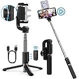 Yoozon Perche Selfie Stabilisateur, 3 en 1 Selfie Stick Trépied avec Télécommande...